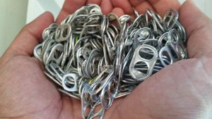 Handful of pop tabs