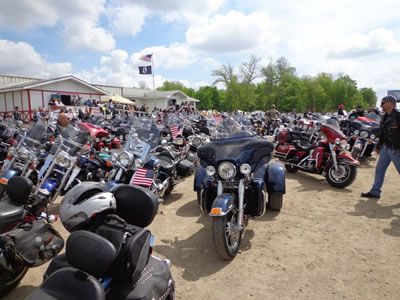 Image of Motorcycles at the Annual Ronald McDonald House Ride in New York Mills MN