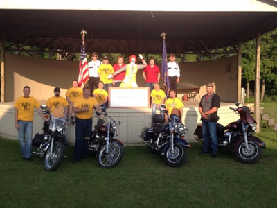 Motorcycles and Riders at the Annual Ronald McDonald House Ride