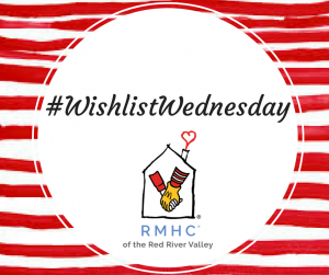wishlist wednesday red and white striped social media graphic, #wishlistwednesday
