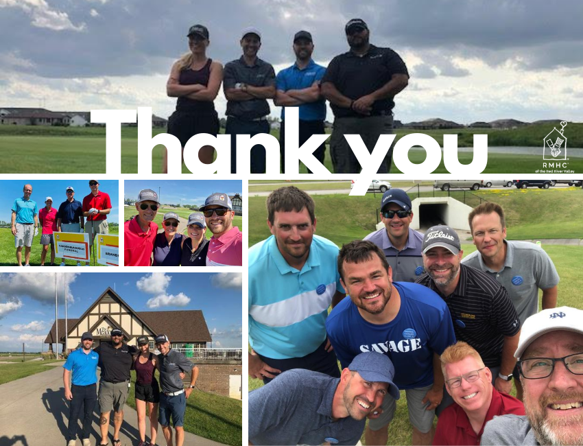 Thank you post with golfers